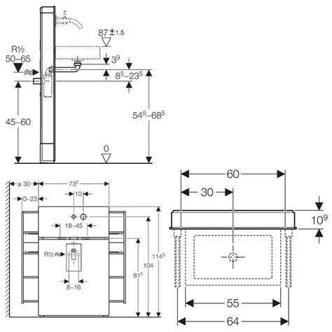 monolith sanitaermodul fuer waschtische und wandarmatur