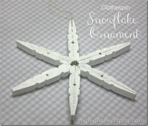 snowflake ornament  clothespins sweet pea