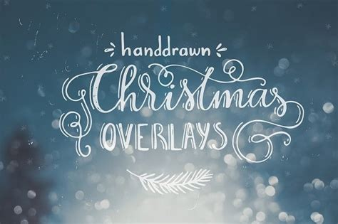 handdrawn christmas photo overlays graphic by favete art creative fabrica