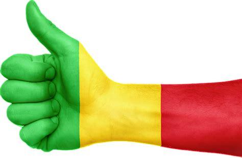 illustration mali flag hand national fingers