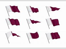 Qatar Flag Vector Download Free Vector Art, Stock