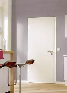 portes d39interieur portes en bois modele lisse With porte de garage avec portes blanches d intérieur