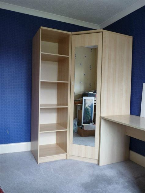 Corner Wardrobe Unit by Corner Wardrobe And Shelving Unit In Wimborne Dorset