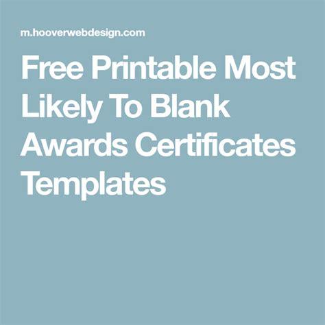 printable    blank awards certificates