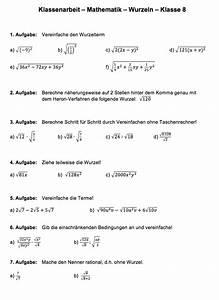 Brüche Berechnen : wurzeln aufgaben klasse 8 matheaufgaben wurzeln pdf ~ Themetempest.com Abrechnung