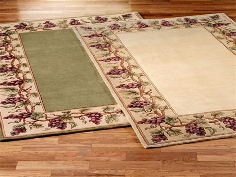 kitchen throw rugs wall decor for dining area kitchen area rugs with grapes