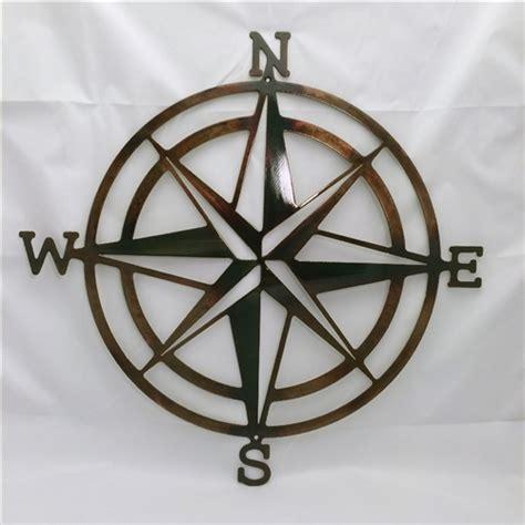 sailboat wall decor metal compass nautical metal wall
