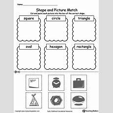 Kindergarten Shapes Printable Worksheets Myteachingstationcom