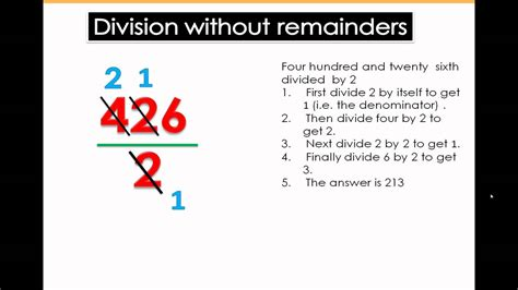 division  remainders math tutorial