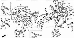 Honda Motorcycle 1998 Oem Parts Diagram For Engine Guard