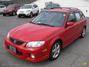 Classic Red 2002 Mazda Protege 5 Wagon Exterior Photo  45697505