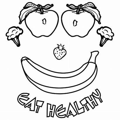 Healthy Coloring Pages Foods Eating Eat Nutrition