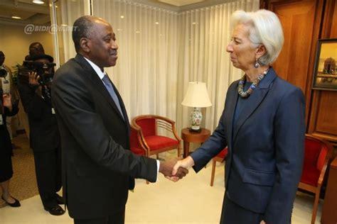 si鑒e du fmi assemblées de printemps du groupe de la banque mondiale et du fmi la délégation ivoirienne reçue par le dg du fmi christine lagarde ivoire