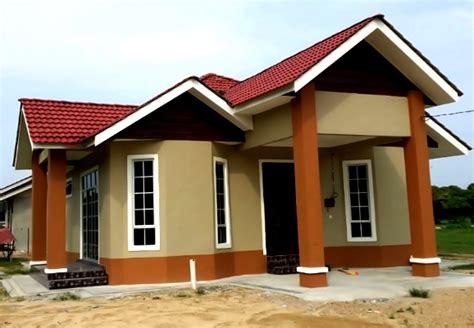 warna cat rumah kampung desainrumahidcom
