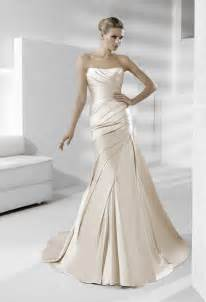 sleek wedding dresses sleek strapless silk wedding dress in chagne onewed