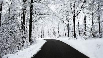 Snow Winter Road Nature Desktop Backgrounds Wallpapers