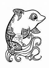Dolphin Coloring Pages Animal Dolphins Drawing Realistic Cuties Miami Cute Printables Drawings Mermaid Fish Trout Printable Rainbow Wuppsy Jumping Pencil sketch template