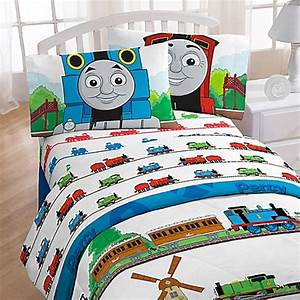 Buy thomas the train printed character full sheet set from for Thomas the train bathroom set