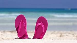 Flip-Flops At Beach Stock Footage Video 5561189 - Shutterstock