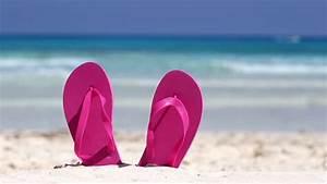 Flip-Flops At Beach Stock Footage Video 5561189 - Shutterstock