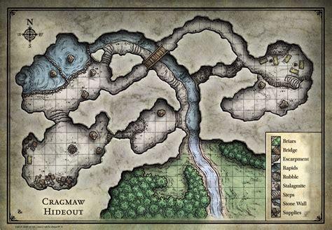 Reversed Map of Cragmar Hideout for Phandalen - GoG