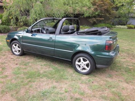 volkswagen convertible 2000 sell used 2000 volkswagen cabrio gls convertible 2 door 2