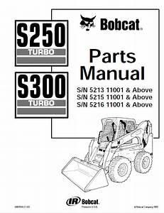Bobcat S250  U0026 S300 Turbo Skid Steer Loaders Parts Manual