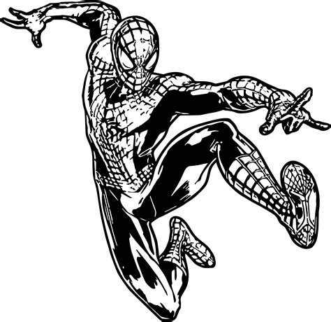 The Amazing Spider Coloring Pages Amazing Spider The Amazing Spider Spider Fly Coloring Page
