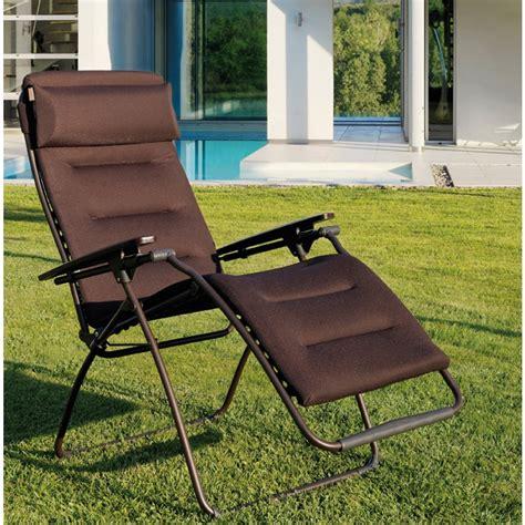 siege relax lafuma fauteuil relax de jardin tout confort lafuma futura mon