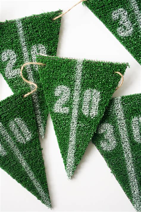diy table runner ideas diy football astroturf yard line bunting salty canary
