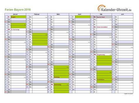 ferien bayern ferienkalender zum ausdrucken