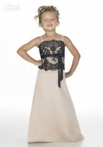 black junior bridesmaid dresses a line ivory flower dress with black lacewedwebtalks wedwebtalks