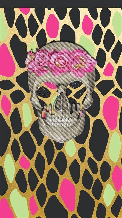 pretty walls happy thursday freebie skull wallpaper