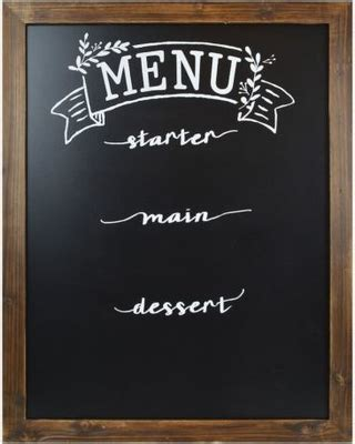 spectacular savings  sheffield home menu chalkboard