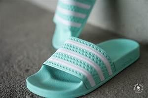 Adidas Adilette Mint  White