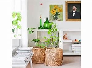 Panier Osier Plante : plantes et fleurs 15 id es pour d corer mon int rieur elle d coration ~ Teatrodelosmanantiales.com Idées de Décoration