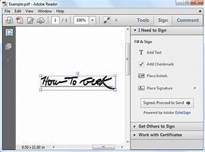 Comment ajouter une signature aux pdf avec adobe reader for Sign documents adobe pdf