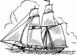 Boat Coloring Pages Draw sketch template