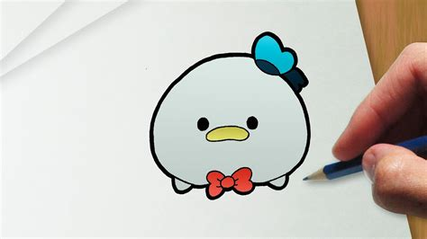 draw donald duck disney tsum tsum version youtube