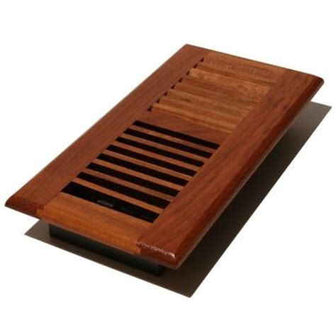 floor registers with fans home depot decor grates 2 1 4 in x 12 in solid cherry