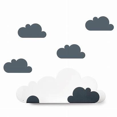 Wolken Kleines Wandregal Grau Hylle Tresxics Grey