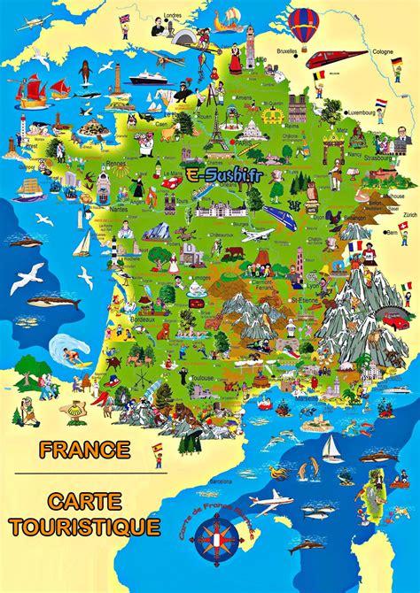 carte de touristique d 233 taill 233 e voyages cartes
