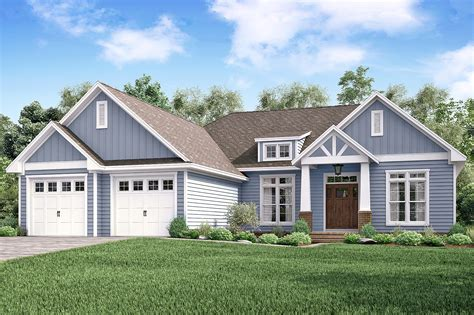 3 Bedrm, 2275 Sq Ft Craftsman Plan #142-1179