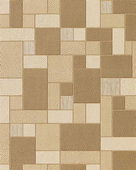 papel pintado mosaico azulejos aspecto piedra textura edem 585 21 decorativa marrón café beige crema