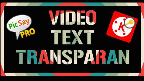 cara membuat text transparan