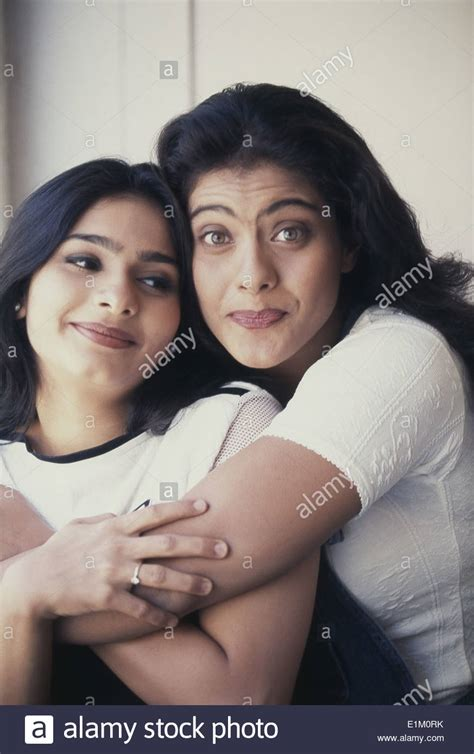 actress kajol devgan photos portrait of indian film actress kajol devgan and tanisha