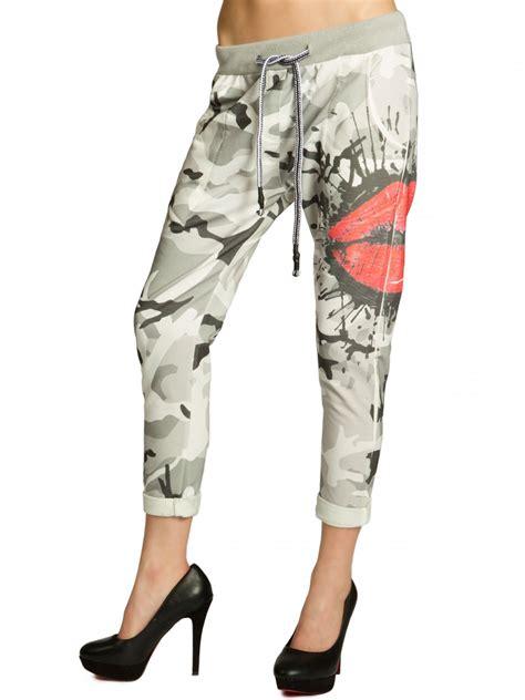 hose style damen caspar khs032 damen baumwolle jogginghose hose sweatpants druck boyfriend style ebay