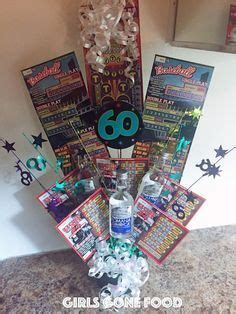 diy lottery ticket  liquor birthday bouquet