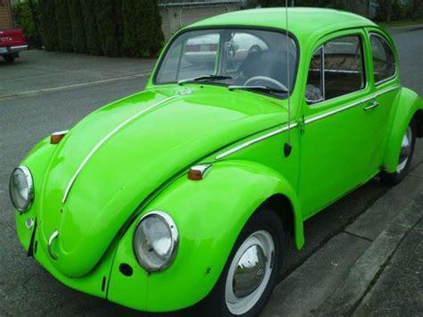 green volkswagen beetle find used 1965 volkswagen beetle lime green rebuilt