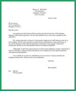 Winning Cover Letters Technical Writer Cover Letter Exle Tips Cover Letter Exle And Letter